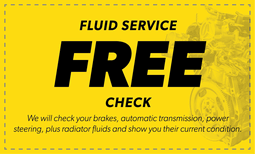 Free Fluid Service Check Coupon