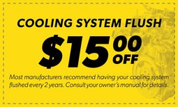 $15 Off Cooling System Flush Coupon