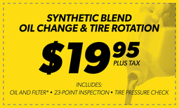 $19.95 Basic Oil Change w/ Tire Rotation Coupon