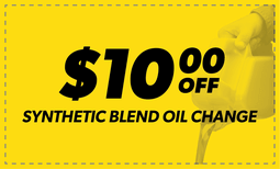 $10 Off Synthetic Blend Oil Change Coupon