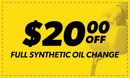 $20 Off Full Synthetic Oil Change Coupon
