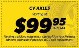 $99.95 CV Axles Coupon