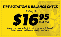 $16.95 Tire Rotation & Balance Check Coupon