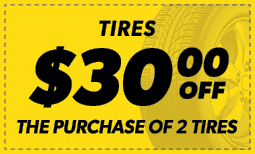 $30 Off the Purchase of 2 Tires Coupon