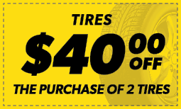 $40 Off the Purchase of 2 Tires Coupon