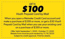 Meineke Credit Card Rebate Offer Coupon