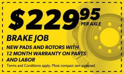 $229.95 Brake Job Coupon