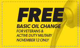 Free Oil Change for Veterans Coupon
