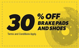 30% Off Brake Pads & Shoes Coupon