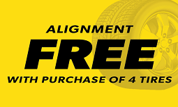 Free Alignment with Tire Purchase Coupon