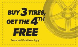 Buy 3 Tires Get The 4th Free Coupon
